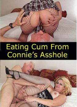 Eating Cum From Connie's Asshole